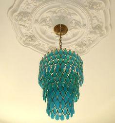turquoise teardrop chandelier