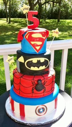 Super Hero Cake - via @Craftsy