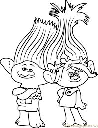 Trolls Coloring Pages Branch Free Online Printable Sheets For Kids Get The Latest Images