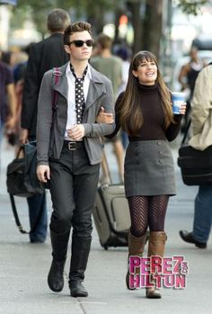 Lea Michele & Chris Colfer Discuss World Domination