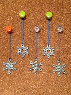 Hex nut snowflake ornaments