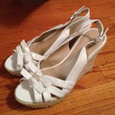 Marc Fisher wedge sandals brand new sz 7.5 Adorable and so comfy!  Ready to ship out today Marc Fisher Shoes Sandals
