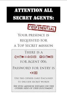Secret Agent Party ideas
