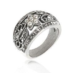 Gl Ring Parels Swarovski Kristal 115