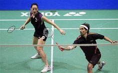 Badminton Players at Olympics   British badminton duo Nathan Robertson and Jenny Wallwork receive ...