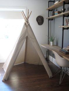 6 ft Fold Away Canvas Teepee by houseinhabit on Etsy