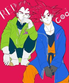 Goku e Vegeta Dragon Ball Gt, Dragon Art, Awesome Anime, I Love Anime, Goten E Trunks, Character Art, Character Design, Goku And Vegeta, Son Goku