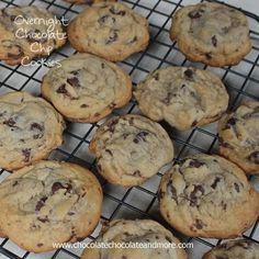 Overnight Chocolate Chip Cookies-letting the dough age does make a difference! I'm a big one for planning ahead. Sometimes. Maybe it's more about being efficient. Either way, when I do something, I make sure I don't have to do it again in the next few days. I'm constantly making cookies. In a house with three...