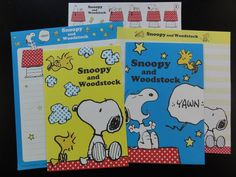 Peanuts Snoopy Letter Sets Stationery Paper - K