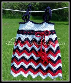 """""""Chasing Chevrons"""" Tank/Tunic/Sundress ~ Pin it to win it Giveaway from A Crocheted Simplicity!"""