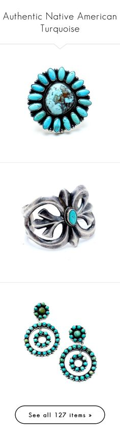 """""""Authentic Native American Turquoise"""" by child-of-wild ❤ liked on Polyvore featuring jewelry, rings, turquoise, flower jewellery, navajo ring, adjustable rings, handcrafted jewelry, american indian rings, bracelets and cuff bangle"""