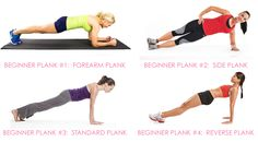Discover the benefits of planks, why planks are better than crunches and get 20 different planks for abs from trainer Christina Carlyle. Planks For Abs, Planks For Beginners, Best Body Weight Exercises, Stomach Exercises, Workout For Flat Stomach, How To Get Abs, Resistance Workout, Gym Routine, Toned Abs