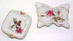 ZERO SHIPPING Pair of Vintage Ladies Ashtrays  by RusticWayLane