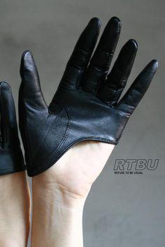 Genuine Lambskin Leather Fashion Runway Model Cut Away Punk Rocker Biker Glove FREE SHIPPING. $21.99, via Etsy.