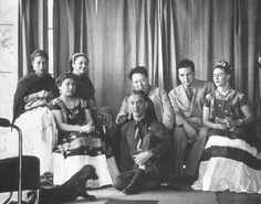 Miguel Covarrubias, Diego Rivera, Frida Kahlo & Nickolas Muray with others  ca. 1952