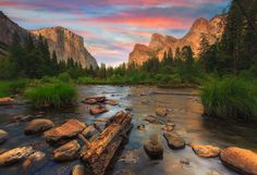 Yosemite Beauty - Yosemite National Park located on Western Sierra Nevada mountain in Northern California.  I felt  diffrent energy in this place when i was taking this photograph thinking used to be one of Ansel Adams playground, the father of Landscape Photography..