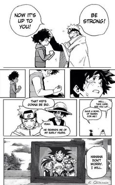 Awwwwww!Manga- My Hero Academia, Naruto, One Piece, Bleach, and DBZ