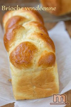 "Brioche ""vendéenne"" - Macaronette et cie Bread Recipes, Croissants, Kitchenaid, Cooking, Breakfast, Food, Holiday Foods, Pastry Recipe, Homemade"