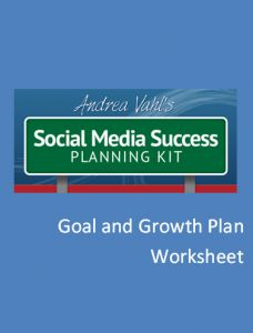 Can't wait to implement this: Social Media Goal and Growth Worksheet