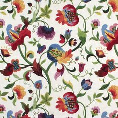 Really like this fabric to cover my plain roman shades -- Richloom Gloria Jubilee Fabric