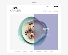 Kähler Webdesign on Behance
