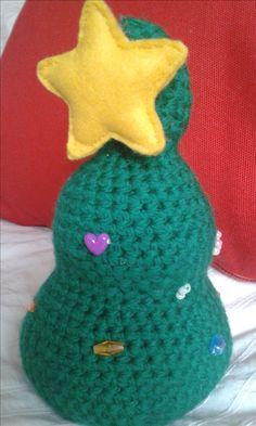árbol de navidad de crochet