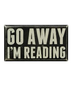 'I'm Reading' Wall Sign