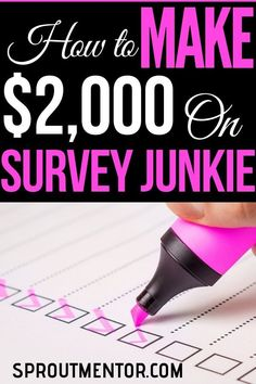 Want to make money online taking surveys? Survey Junkie is one of the best survey site you can use to make money from home. - Earn Money at home Cash From Home, Work From Home Tips, Make Money From Home, Make Money Online, Surveys For Money, Paid Surveys, Earning Money, Online Job Opportunities, Ways To Get Rich