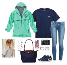 """""""Day two: sight seeing"""" by oliviacat1215 ❤ liked on Polyvore featuring Vineyard Vines, Paige Denim, G1, NIKE, Longchamp, GlassesUSA, Alex and Ani, vintage and washingtondctrip300"""