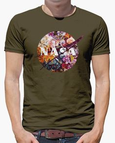 Camiseta Nasa Vintage Flowers Insignia