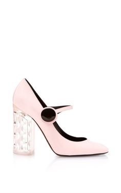 Baby Pink Carnaby Mary Jane by Nicholas Kirkwood for Preorder on Moda Operandi
