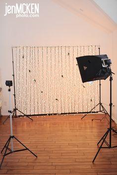 Christmas light bokeh photo setup