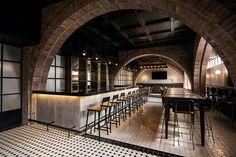 historic salón sociedad transformed into rustic resto-bar in monterrey