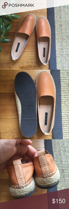 Persimmon Leather Espadrilles These espadrilles are made from a buttery soft leather. Perfect for your go to summer shoe. Perfect condition! Rachel Zoe Shoes Espadrilles