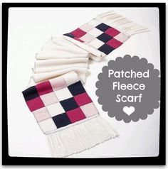 Talk about comfy! Love this #fleece scarf idea :)
