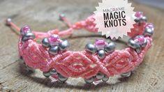 Macrame Bracelet with Beads Tutorial   UNIQUE Macrame PATTERN #MacrameBracelet #Tutorial #Easytutorial #Craft #Pattern #MacrameMagicKnots