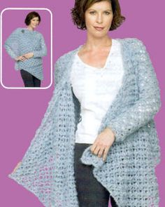 Crochet lace wrap - free pattern