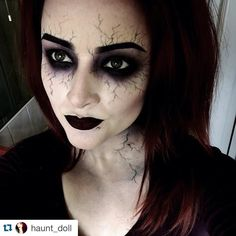 """REPOST @Haunt_Doll Best halloween make up I have seen & will see this year one of my beautiful besties ... Super talented lady hope you are all…"""