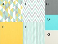 Preview Organic Modern Yellow Aqua and Gray by butterbeansboutique
