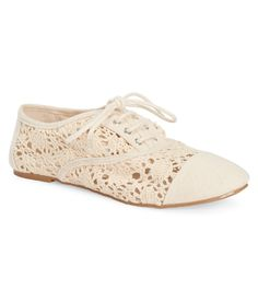 Crocheted Oxford Shoe from Aeropostale