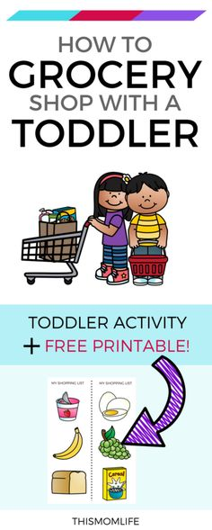Here is a parenting tip for toddlers and a preschool activity that can be used at the grocery store.  Free printable, Simple, Ideas, Learning, For 3 year olds, Hacks.