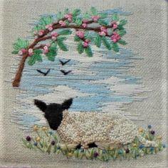 Sheep, Cute, Painting, Sweater Vests, Kawaii, Painting Art, Paintings, Painted Canvas, Drawings