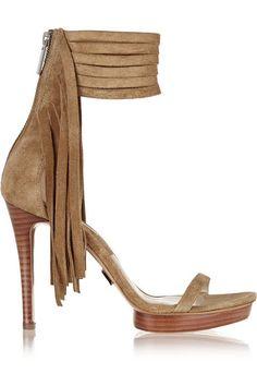 Michael Kors Daphne fringe suede sandals