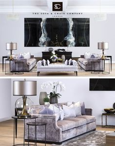 Paying attention to the details of the design is essential in creating a luxury living room interior. Interior Design, Luxury Living Room, Living Room Inspiration, Showroom Living Room, Interior Design Living Room, Elegant Interiors, Luxury Interior, Luxury Home Decor, Luxury Living Room Inspiration