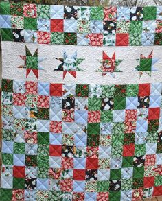 """""""Wonky Star"""" Quilt. Pattern was from a Missouri Star Quilt Company tutorial."""
