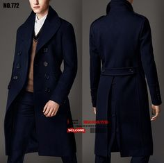 3b806631a1673 2016 Plus size MEN S brand slim casual long overcoat fashion double  breasted male woolen overcoat wool coat costumes-in Wool   Blends from Men s  Clothing on ...