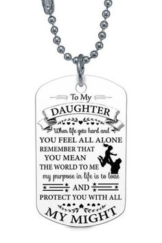 USA Seller Daddy and Daugher Twin Dog Tag Necklaces Dad Father Men Girls Gift