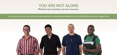 Welcome to 1in6. You are not alone and whatever your situation we have resources.  Resources and information for boys and men who have been sexually abused or assaulted.