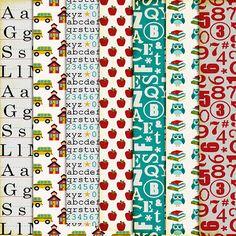 Scrapbooking TammyTags -- TT - Designer - Harper Finch, TT - Item - Paper, TT - Theme - School or Graduation