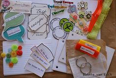 Travel mini chipboard album kit from @bonnie's designs on etsy